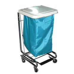 אוגר כביסה יחיד עם מכסה פלסטיק