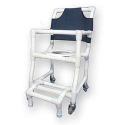 כסא שירותים ורחצה על גלגלים מפלסטיק