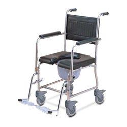 כסא גלגלים למקלחת ולשירותים מנירוסטה