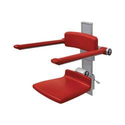 כסא רחצה מתקפל עם תמיכת גב וידיות