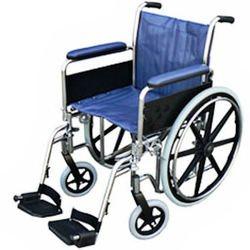 כסא גלגלים מוסדי קלאסי עם ידיות ארוכות