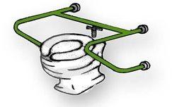 מעקה עזר חובק לשירותים