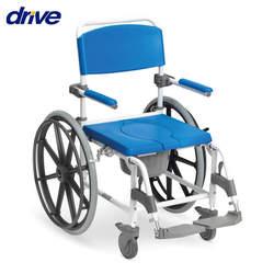 כסא רחצה ושירותים עם גלגלים גדולים