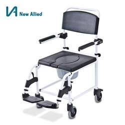 כסא גלגלים לרחצה ושירותים מאלומיניום