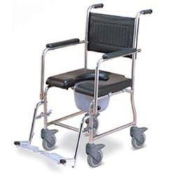 כסא שרותים ורחצה עם גלגלים - עשוי נירוסטה  201