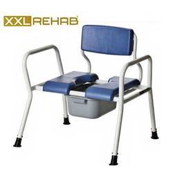 כסא רחצה ושירותים עם סיר לבעלי משקל עודף