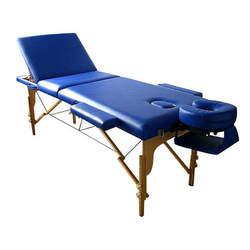 מיטת טיפולים מעץ מתקפלת