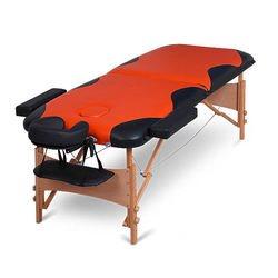 מיטת עיסוי צבעונית מעץ