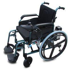 כסא גלגלים ממונע עם גלגלי ספורט קלים