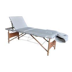 מיטת טיפולים מעץ עם גב מתרומם