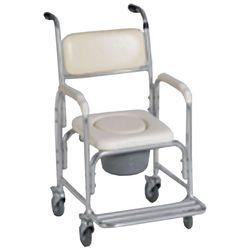 כסא שרותים ורחצה מאלומיניום להשכרה