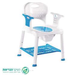 כסא שירותים ורחצה מפלסטיק