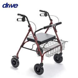 רולטור 4 גלגלים עם כסא לכבדי משקל