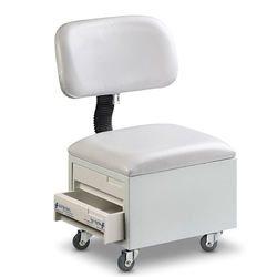 כסא פדיקור עם 2 מגירות
