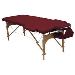 מיטת טיפולים מעץ עם פנל רייקי לטיפול בישיבה