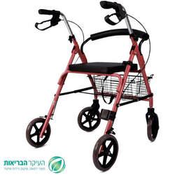רולטור 4 גלגלים מאלומיניום עם גלגלים רחבים
