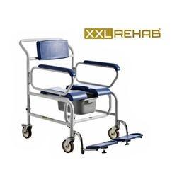 כסא רחצה עם גלגלים לכבדי משקל