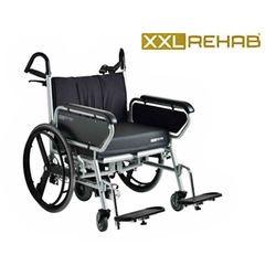 כסא גלגלים מחוזק מיוחד לכבדי משקל עד 325 ק'ג עם מנוע עזר