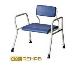 כסא רחצה מיוחד לכבדי משקל ללא גלגלים