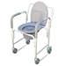 כסא שירותים ורחצה על גלגלים עם סיר ומכסה