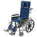כסא גלגלים בעל גב הטיה